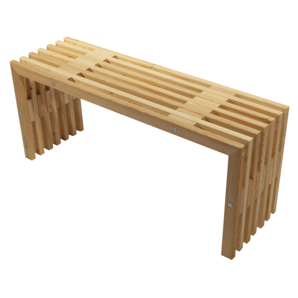 EcoFurn 91181 D-Bench 100 Larch natural flat pack