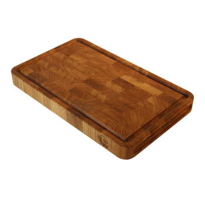 EcoFurn 92454 Cutting Board 40x25x4cm end grain oak linseed oiled