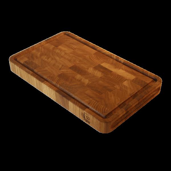 EcoFurn 92454 Cutting Board 40x25x4cm end grain oak linseed oiled
