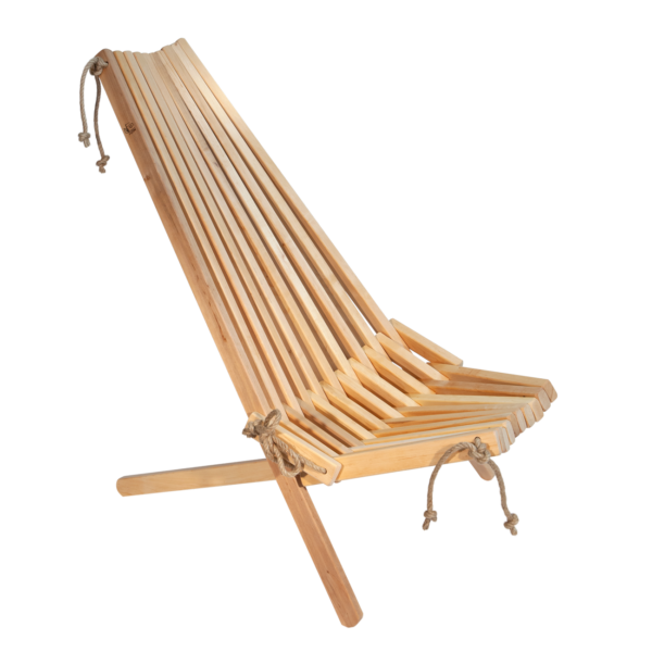 EcoFurn 90078 EcoChair Alder natural flat pack untreated chemical free