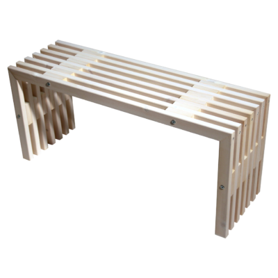 EcoFurn 91129 D-Bench 100 Pine White oiled flat pack