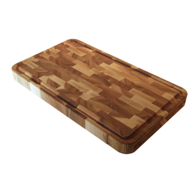 EcoFurn 92324 Cutting Board end grain ASH 50x30x4 linseed oiled