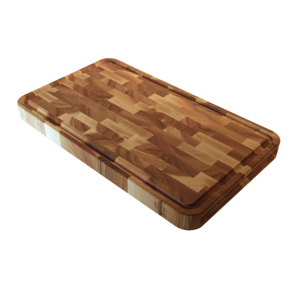 EcoFurn 92324 Cutting Board end grain ASH 50x30x4 linseed oiled