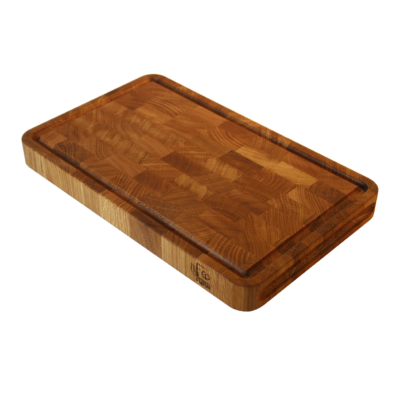 EcoFurn 92454 Cutting Board end grain OAK 40x25x4 linseed oiled