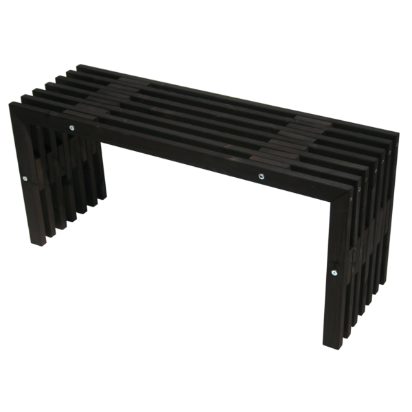 EcoFurn 93758 D-Bench 100 Pine Black oiled flat pack