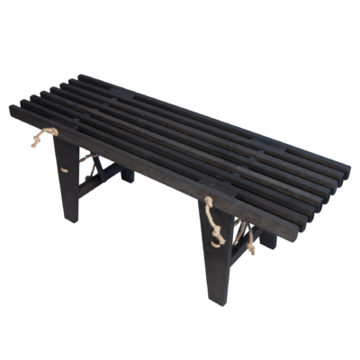 EcoFurn 91600 EcoBench 120 Alder Black oiled flat pack