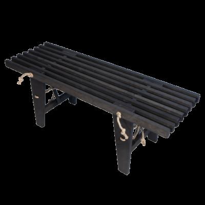 EcoFurn 91600 EcoBench 120 Alder Black oiled flat pack