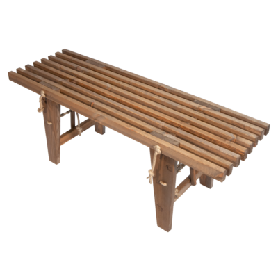 EcoFurn 91457 EcoBench 120 Pine Brown oiled flat pack