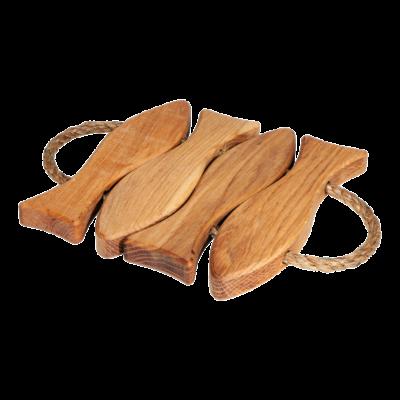 EcoFurn 92027 Fish 4 Coaster oak linseed oiled