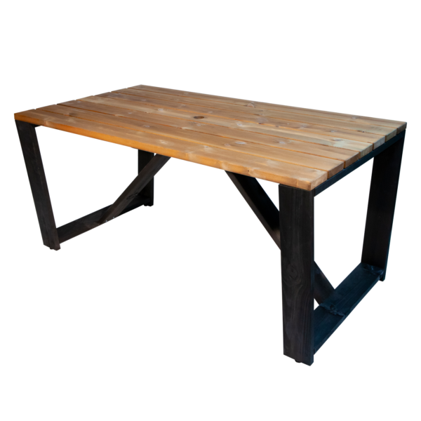 EcoFurn 94205 Jussi Table 160 Pine oiled black-brown flat pack